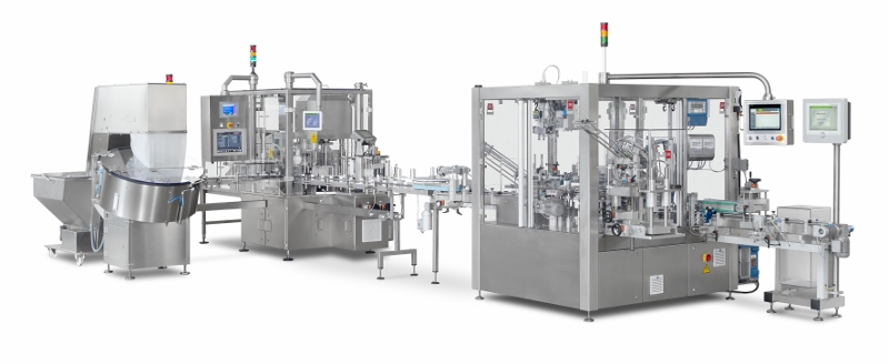 Fully Automatic Tablet Counting, Capping and Cartoning Line Raupack UK and Ireland