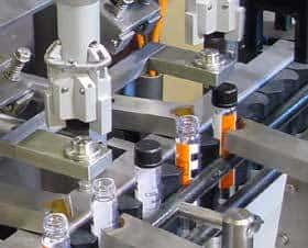 <ol><li>Special shaped caps and containers<li>Orientation of closure to container<li>Integrated labelling possible<li>Press-on, Screw or Crimp</ol>
