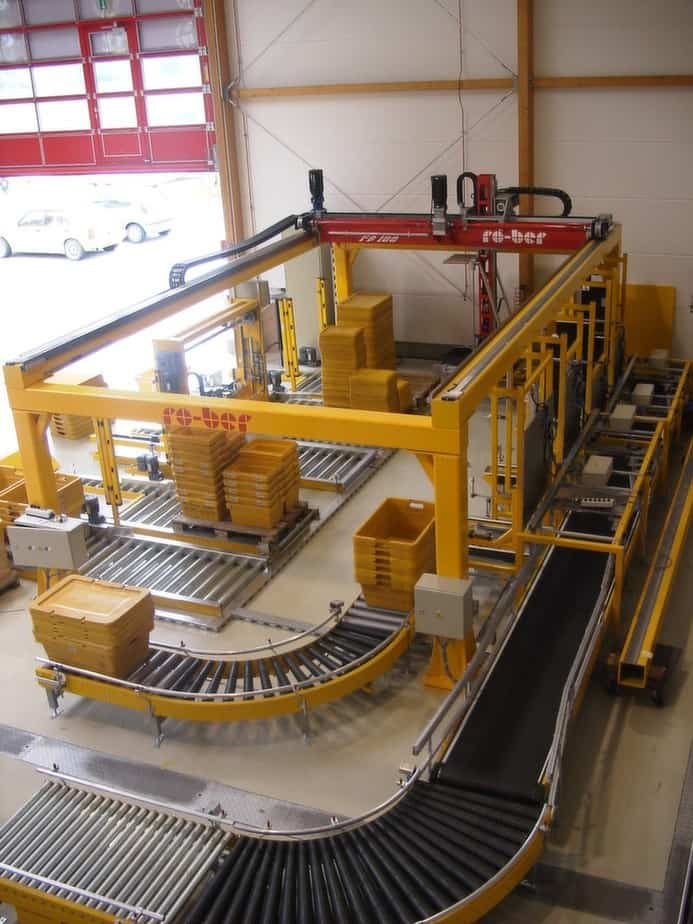 Tote Stacking and Palletising - Raupack UK and Ireland